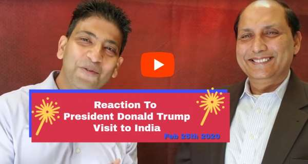 Reaction to President Donald Trump Visit to India