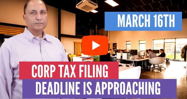 Corp Tax Filing Deadline is March 15th 2020 - Things To Do